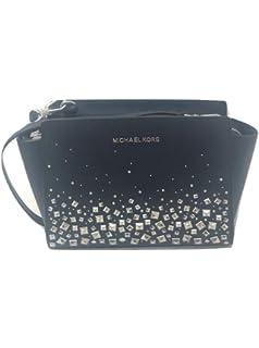 69ae0ce3fc63 MICHAEL Michael Kors Selma Stud Medium Messenger Leather Crossbody Handbag  Purse