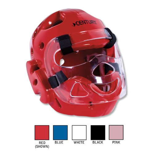 Century Full-Face Headgear with Face Shield Red Small