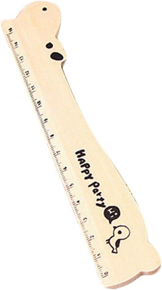 cosanter Pack de 2 reglas de madera 15 cm – negro con diseño de ...