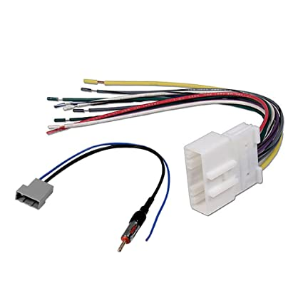 amazon com aftermarket car stereo radio receiver wiring harness w