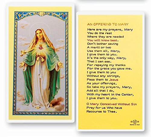 - An Offering to Mary Prayer Card Blessed By Pope Francis