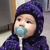 Amazon.com: Chupete de bebé con brillo en la oscuridad, más ...