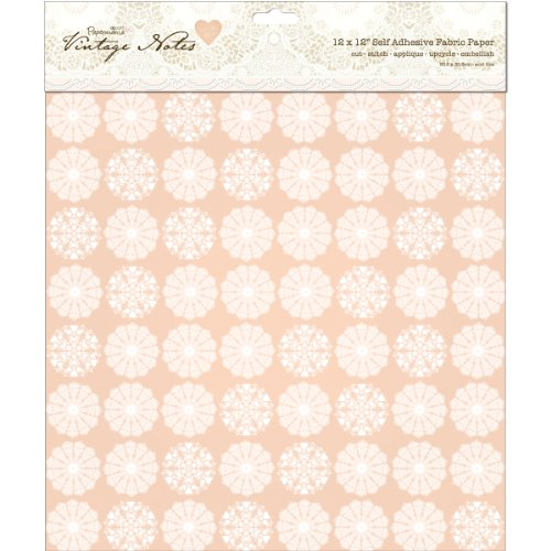 (DOCrafts Papermania Vintage Notes Self-Adhesive Fabric Paper 12