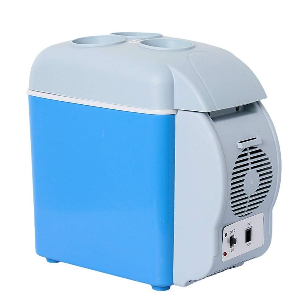 Lcxligang 7.5L Car Refrigerator, Car Portable Hot and Cold Dual-use Mini Refrigerator Box with Cup Holder (Color : with Cup Holder)