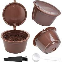 FOROREH Cápsula de Café Reutilizable de 3 Piezas para Máquina Dolce Gusto Cápsula de Café Reutilizable con 1 Cuchara de…