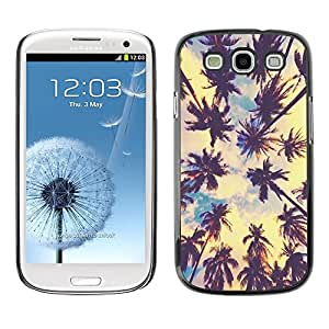 Los Angeles Sun Summer Sky Nature Ville - Metal de aluminio y de plástico duro Caja del teléfono - Negro - Samsung Galaxy S3