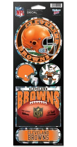 WinCraft NFL Cleveland Browns Prismatic Stickers, Team Color, One Size
