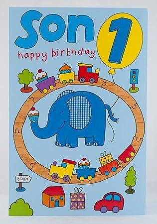 Happy 1st Birthday Son Card
