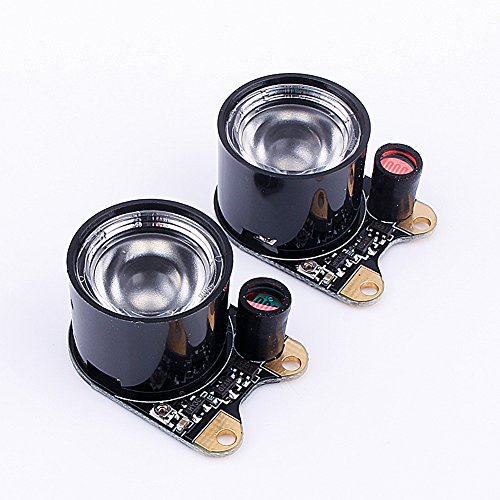 Infrared LED Light,2PCS 3W 850 IR High-power Night Vision Infrared Illuminator with Adjustable Resistor for Raspberry Pi Camera Module