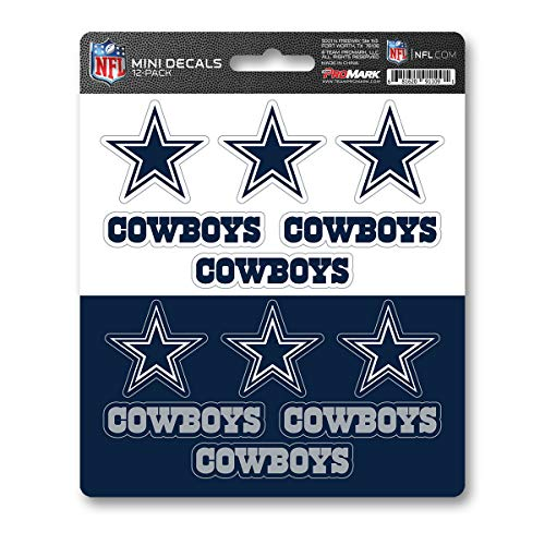 - ProMark NFL Dallas Cowboys DecalDecal Set Mini 12 Pack, Team Colors, One Size