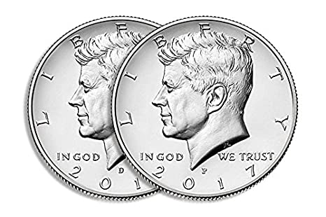 D Kennedy Half Dollar 2 Coin Set Uncirculated 1980 P