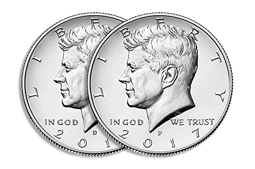 2017 P & D Kennedy Half Dollar Clad Uncirculated Clad Half Dollars