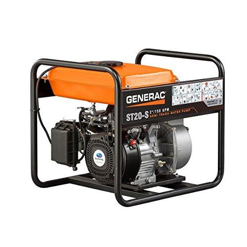 (Generac 6919 ST20-S 2-Inch Semi-Trash Water Pump with 169cc OHC Subaru Engine)