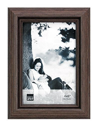 Kiera Grace Nolan Picture Frame, 4 by 6 inches, Grey - Frames Drift