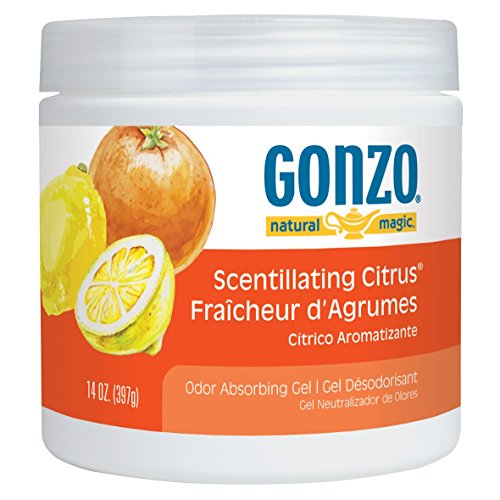 Gonzo Natural Magic Air Purifying Gel, Odor Eliminator for Cars, Closets, Bathrooms and Pet Areas, Captures and Absorbs Ordors - 14 Ounce - 12 Pack - Scentillating Citrus by Gonzo Natural Magic (Image #3)