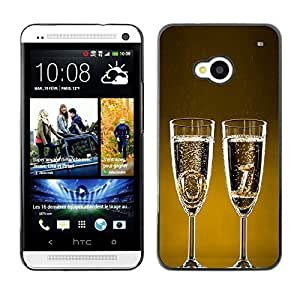 YOYO Slim PC / Aluminium Case Cover Armor Shell Portection //Christmas Holiday Happy New Year 1157 //HTC One M7