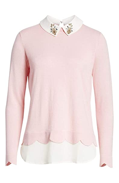 Ted Baker Suzaine Embellished Layered Sweater In Baby Pink by Ted Baker