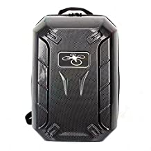Tomlov Heavy Duty HardShell Waterproof Protective Backpack Bag / Rucksack /Hard Carrying Case with Custom Pre-Cut Foam Insert for DJI Phantom 4, DJI Phantom 3 Professional & Advanced Drones ( Carbon Fibre )