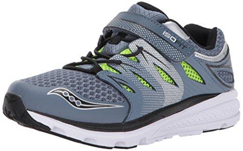 Saucony Boys' Zealot 2 a/C Running Shoe, Grey, 12.5 Wide US Little Kid