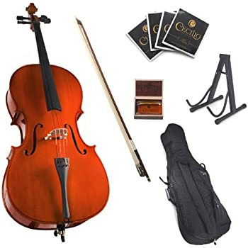Amazon.com: 4/4 Acoustic Cello + Case + Bow + Rosin Wood ...