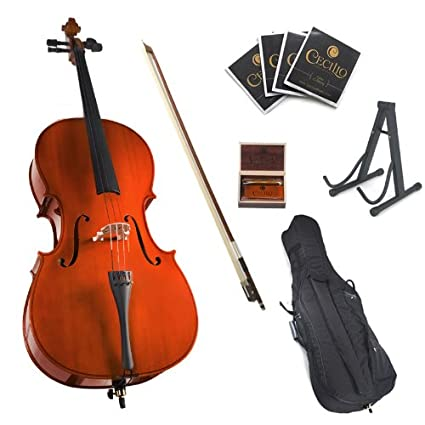 Cecilio CCO-100 Student Cello with Soft Case, Stand, Bow, Rosin, Bridge and Extra Set of Strings, Size 3/4 3/4CCO-100