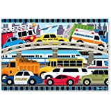 Melissa & Doug Traffic Jam Floor Puzzle 24 pc