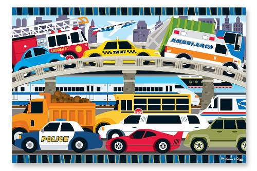 Melissa Doug Traffic Jigsaw Puzzle product image
