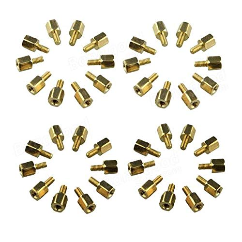 120pcs Project M2.5 x 5 + 5mm Standoff Spacers Copper Pillar For Board - Arduino Compatible SCM & DIY Kits Arduino Compatible SCM Components - 120 x Brass standoff spacers for $<!--$16.40-->
