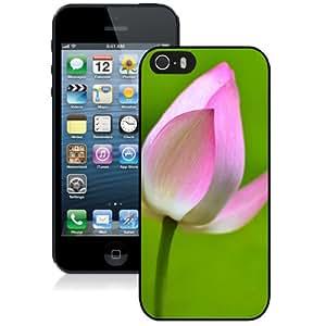 Hot Sale iPhone 5 5S Cover Case ,Lotus Flower Macro Black iPhone 5 5S Phone Case Unique And Fashion Design
