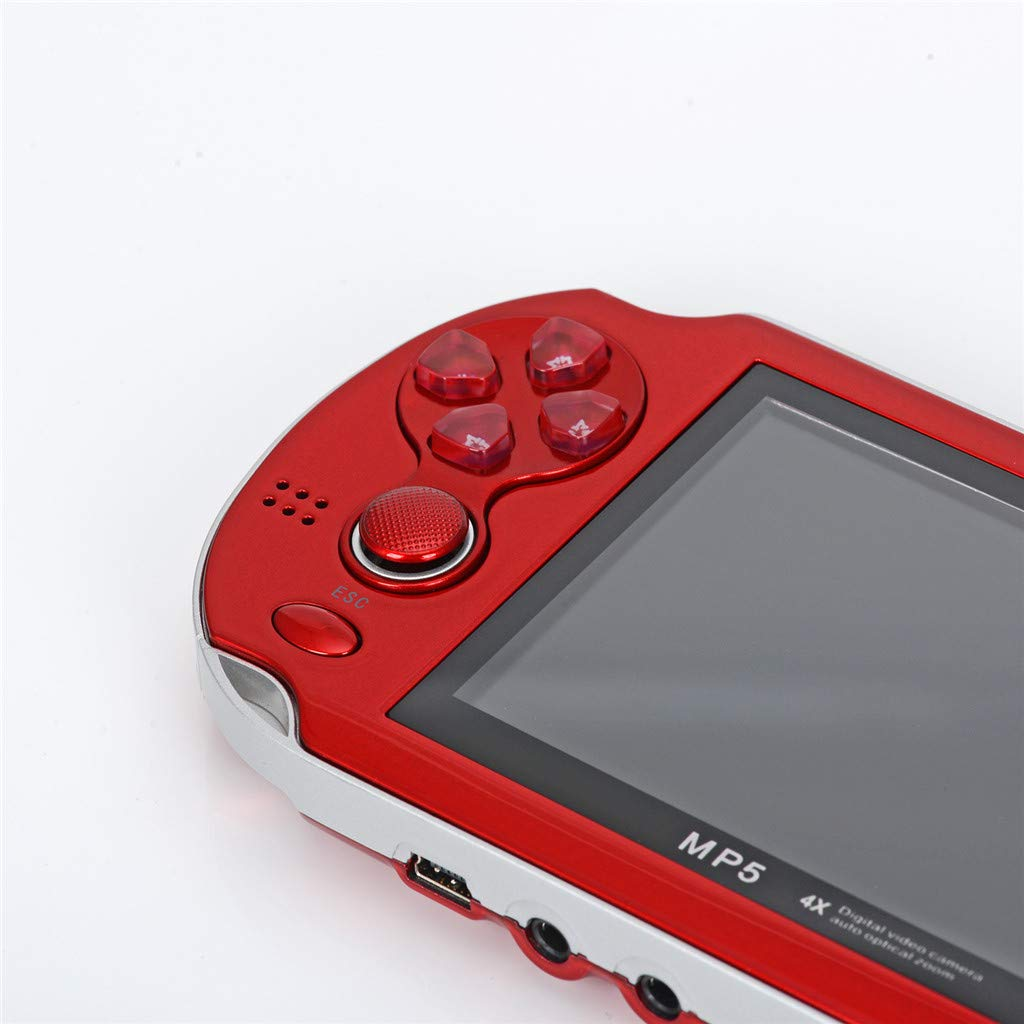 Huangou PSP Games,Retro Classic Game Console Handheld Portable 800 Built-in 4.3 Inch Games (Red, 11.5 x 8.5 x 9cm) by Huangou (Image #5)