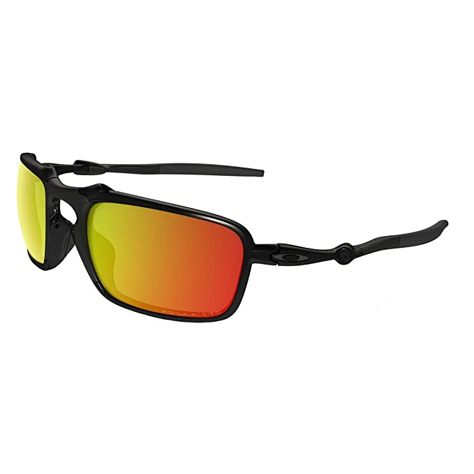 45e1adcd539 Oakley Men s Badman OO6020-03 Polarized Iridium Rectangular Sunglasses