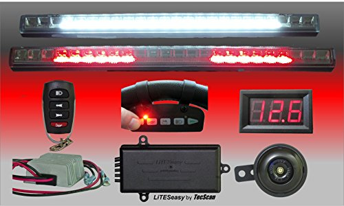 Adjustable Remote Horn - TecScan LiTESeasy Deluxe Remote Control Golf Cart LED All Signals Light Kit W/Voltage Reducer