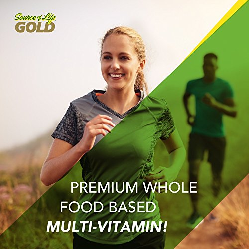 Natures Plus Source of Life Gold - 180 Vegetarian Tablets - Daily High Potency Antioxidant and Anti-Aging Whole Food Multivitamin Supplement, Energy Booster - Gluten Free - 60 Servings by Nature's Plus (Image #3)