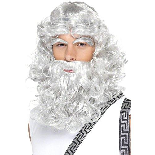 [Zeus Wig Costume Accessory] (Male Greek God Costumes)