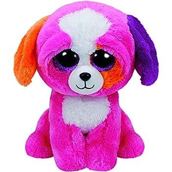 Amazon.com: Ty Beanie Boos Sherbet - Multicolor Dog: Toys