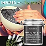 MAJESTIC PURE Dead Sea Mud Mask Infused With Tea Tree Oil - Supports Acne Prone and Oily Skin, for Women and Men - Fights Whitehead and Blackhead - Helps Reduce the Appearances of Scars - 8.8 oz