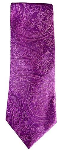 Hugo Boss Hugo Mens Purple With Swirls Pattern 100% Silk Tie (50286385 525)