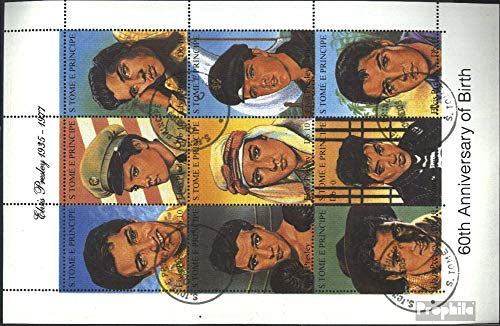 Sao Tome e Principe 1473-1481 Sheetlet (Complete.Issue.) 1994 Elvis Presley (Stamps for Collectors) Music/Dance ()