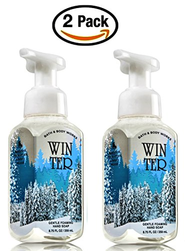 Bath & Body Works Winter Hand Soap - Pack of 2 Winter Scent Gentle Foaming Hand Soaps - Christmas Winter 2015 Apple Italian Wine