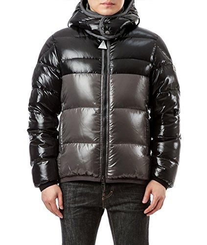 Wiberlux Moncler Harry Men's Detachable Hood Glossy Two-Tone Down Jacket 3 - Moncler Black