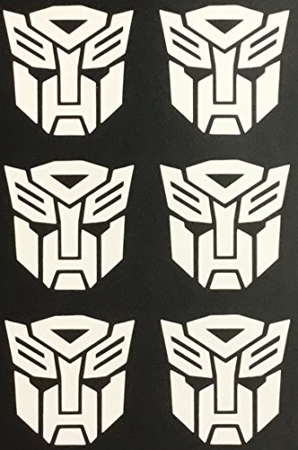 C60463 (White) Autobot-Transformer (6 pack) 1.5x1.5 -