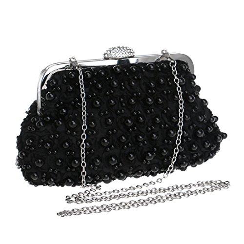Bag Con Cuentas Señora Embrague Noche color Party Black Bolso Del Magai Black Dress De yHzFqcR