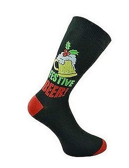 Hombre Fiesta Navidad Calcetines - Navidad Calcetines Regalo - Ideal Regalo de Navidad - Talla Ru
