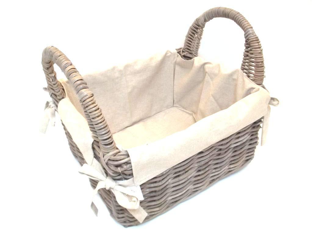 Deko, journaux, porte-bûches, panier en rotin pour beige-gris) avec doublure porte-bûches