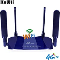 KuWFi 4G LTE CPE WiFi Router 300Mbp Wireless CPE Mobile WiFi Router with SIM Card Slot up to 32 Users with Good Coverage for PC/Phone/TV Box