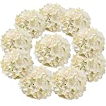 Flojery-Silk-Hydrangea-Heads-Artificial-Flowers-Heads-with-Stems-for-Home-Wedding-DecorPack-of-10-Champagne