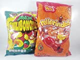 Mexican Candy CHILIBONCHAS MIX Flavors 70pz and Vero Authentic Mexican Candy Rellerindos Watermelon flavor 65pcs With Free Kinder Bar