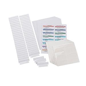Smead Viewables Premium 3D Hanging Folder Tabs and Labels for Inkjet and Laser Printers, Bulk Pack of 100 (64910)