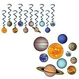 Solar System Hanging Whirls & Cutouts 20 Piece Bundle Set