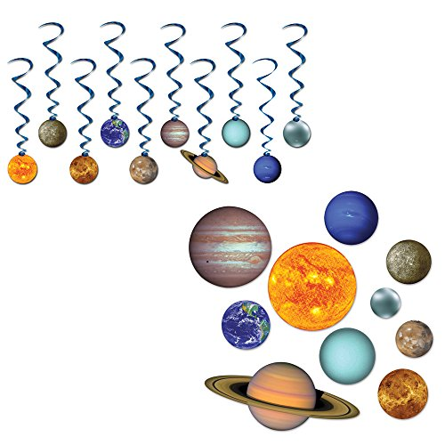 - Solar System Hanging Whirls & Cutouts 20 Piece Bundle Set